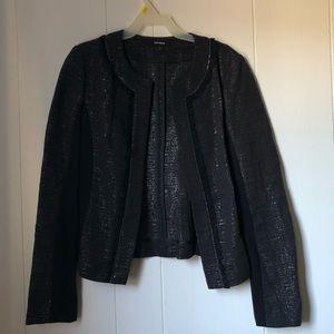EXPRESS Black Sparkly Viscose Blazer
